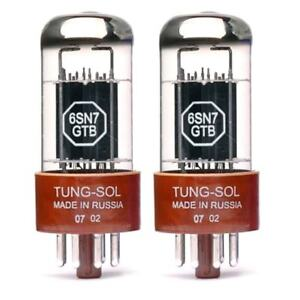 New Gain Matched Pair (2) Tung-Sol Reissue 6SN7GTB Vacuum Tubes 6SN7 6SN7GT