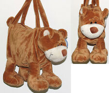 BEAR plush soft animal purse handbag    New