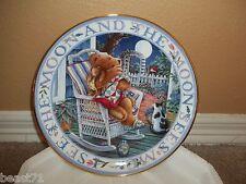 Royal Doulton Franklin Mint Moonlight Blessing Teddy Bear Plate w/Certificate