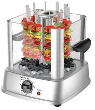 Vertical Electric Grill Kebab Rotisserie Meat Vegetable Machine +10 Skewers