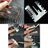 For Gundam Ship Etched Sheet 1/144 1/100 Foldable Stainless Steel Ruler Tool