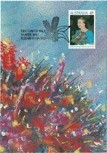 AUSTRALIA 1990 QUEEN ELIZABETH II'S BIRTHDAY OBVERSE FIRST DAY ISSUE POST CARD