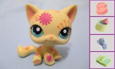 Littlest Pet Shop #1231 Yellow Postcard Cat +1FREEAccessory Authentic.minor wear