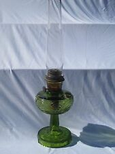 New listing Vintage Green Glass Oil lamp