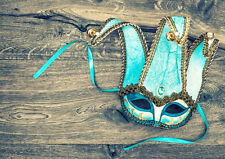 STUNNING MASQUERADE BALL PARTY MASK CANVAS PICTURE #40 WALL HANGING ART A1