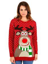 Boys Girls Unisex Kids Novelty Retro Santa Reindeer Tops Christmas Xmas Jumpers