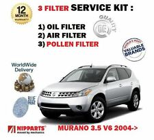 FOR NISSAN MURANO 3.5 V6 Z50 2004-2008  NEW OIL AIR POLLEN 3 FILTER KIT