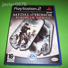 MEDAL OF HONOR EUROPEAN ASSAULT PAL ESPAÑA NUEVO Y PRECINTADO PLAYSTATION 2 PS2