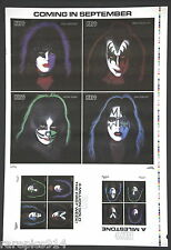 Kiss Rare Printers Proof Sheet With Both Poster And Box Set Images On Front Side