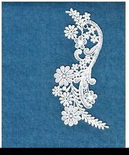"9 1//2/""  ***VICTORIAN INSPIRED*** Medallion Motif Applique   BRIDAL WHITE"