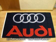 Fahnen Flagge Audi Schwarz Neu - 90 x 150 cm