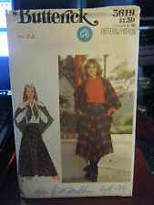 Vintage Butterick 5619 Misses Skirt & Shawl Pattern - Waist Size 24