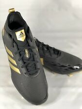 Adidas adizero Afterburner V  Baseball Cleat - Black/Gold Metallic - Men's 10