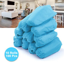 100X Disposable Shoes Foot Covers Dustproof Anti Slip Non-woven Blue HS1472
