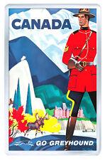 CANADA GO GREYHOUND VINTAGE REPRO FRIDGE MAGNET SOUVENIR IMAN NEVERA