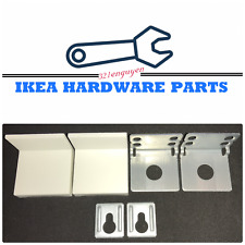 2 IKEA WALL BRACKET with White Cover for IKEA Kallax & other Furniture 115753