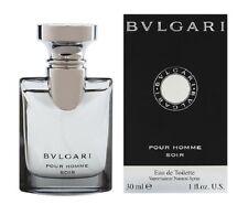 BVLGARI SOIR pour homme 1.0 oz EDT Spray Mens Cologne Bulgari Tester 30 ml