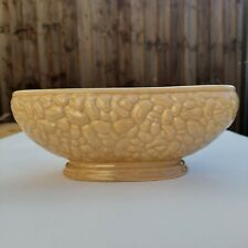 Vintage Brown Textured Mantle Vase Planter Urn Made In England Ceramic FLAW
