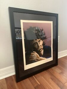 """RONNIE WOOD ART """"Keith iii"""" KEITH RICHARDS HAND SIGNED ROLLING STONES FRAMED"""
