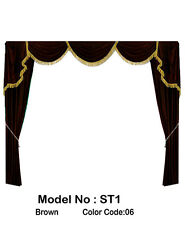 Saaria ST-1 Home Theater Event Stage Movie Hall Screen Curtain Drapes 10'W x 8'H