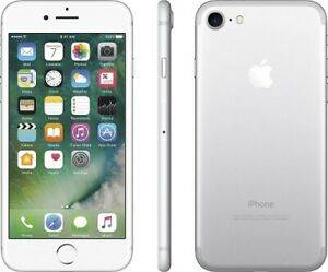 Apple iPhone 7 - 32GB - Sliver AT&T Unlocked A1778 (GSM) iOS 10 Siri