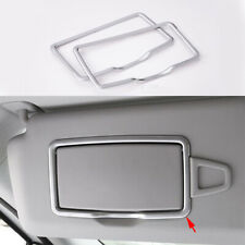 2x Front Roof Make-up mirror Frame Trim For Mercedes-Benz E Class W212 W213 10+