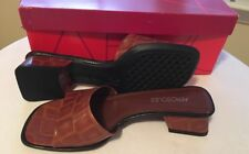 Aerosoles, 7B Brown Tobacco Croco sandals, Slip-on Block Heel Original Price $45