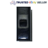 Black 1 Gang Architrave Light Switch Single Black Narrow Arc Slim