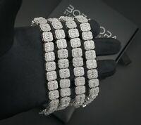 Baguette Tennis Bracelet - Solid 925 Sterling Silver