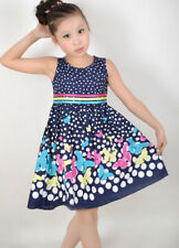 Girls Dress Navy Blue Butterfly Party Princess Child Clothes Age 4-12 Years