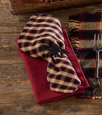 Napkin Set of 2 - Hickory by Park Designs - Kitchen Dining Black Tan Red
