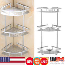 Bathroom Triangular Shower Caddy Shelf Corner Bath Storage Holder Organizer Rack