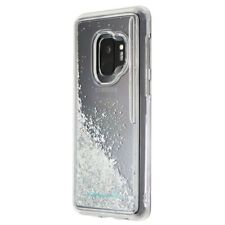 Case-Mate Waterfall Hard Case for Samsung Galaxy S9 - Clear/Silver Glitter