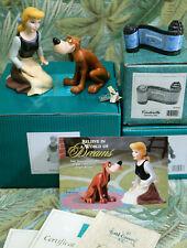 WDCC Wistful Dreamer + pin & Canine Confidante and Cinderella Opening Title NIB