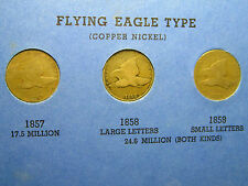 1857, 1858(Sm ltrs), & 1858(Lg Ltrs) Flying Eagles                        (19th)