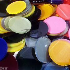 (2) 50mm x 1/8 Small COLOR Acrylic Lens Circle Disc Plexiglass Plastic Steampunk