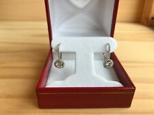 1.45 ctw F-VS1 round diamond 18k micro pave earrings women's