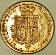 "Australia 1886 ""S"" Sydney Mintmark Gold 22ct HALF Sovereign Coin  Shield Reverse"