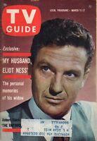 1961 TV Guide March 11 - My husband Eliot Ness; Hong Kong; Raymond Burr; Remick