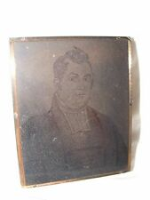 VINTAGE COPPER NEGATIVE PHOTOGRAPHIC PRINTING PLATE PRESS REV WILLIAM HAMMERTON