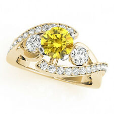 1.16 Carat Yellow Canary Diamond Solitaire Engagement Ring 14k Yellow Gold Deal