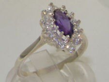 Marquise Natural Amethyst Fine Rings