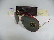 New Vintage B&L Ray Ban Large Metal II Flying Colors Red Gold 62mm NOS USA