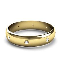 18 Carat Band Yellow Gold SI1 Fine Diamond Rings