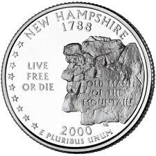Quarter coin, USA 25 cents, New Hampshire State Quarter, D, 2000