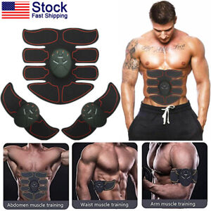 Ultimate EMS AB & Arms Muscle Simulator ABS Toner Training Abdominal Trainer Set
