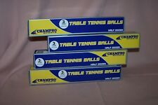 (4) Champro 3 Star C.T.T.A. Approved Table Tennis Balls NEW in Boxes 24 Balls