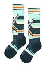 SmartWool Women's PhD Ski Medium Pattern Socks in Mediterranean Green 5901 Sz S