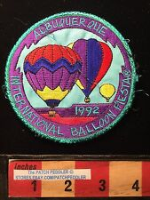 Vtg Albuquerque International Balloon Fiesta NEW MEXICO PATCH Hot Air 1992 62K3