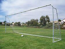 24 X 8 X 5 Ft. Official MLS/FIFA Size Steel Soccer Goal. Heavy Duty Frame w/Net.